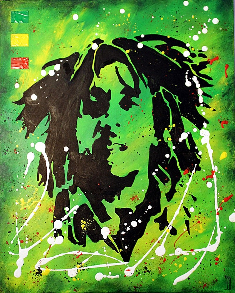Bob Marley by aquarelle-autrement